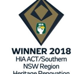 Our Ainslie Heritage project wins two HIA awards