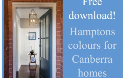 Free download! Hamptons colours for Canberra Homes