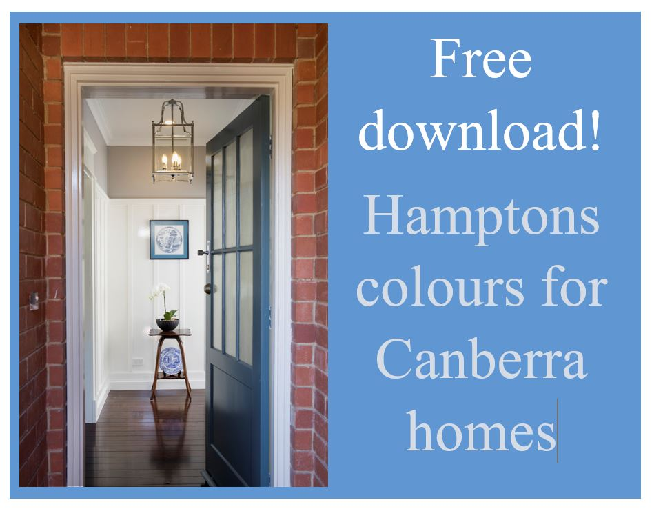 Hamptons colours for Canberra homes