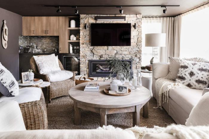 deakin home interior design classic aesthetic neutrals stone wicker australia decorating design