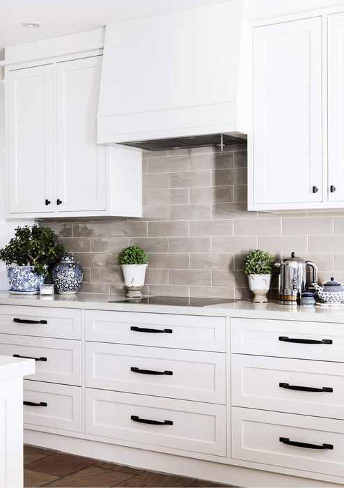 classic kitchen splashback hood cabinets white interior design canberra