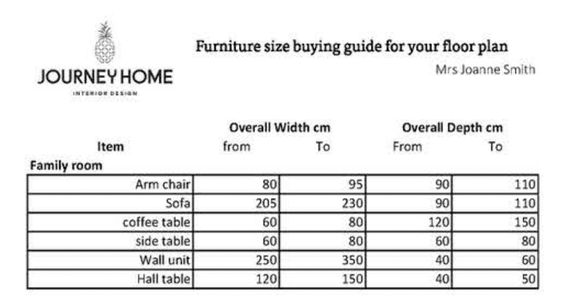 furniture buying guide how to know what size sofa to buy journey home interiors canberra