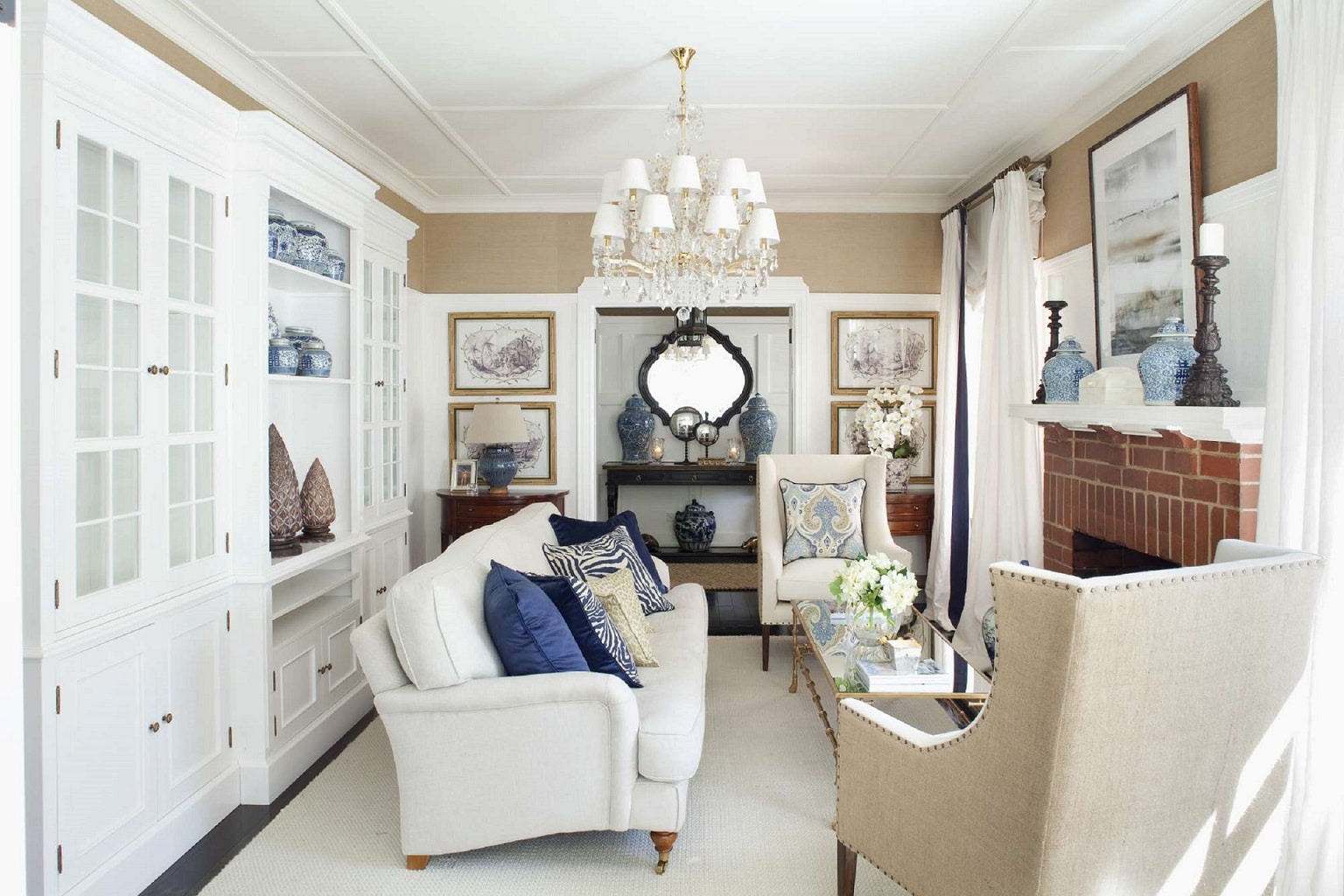 canberra styling a living room rug sofa table traditional chandelier classic style
