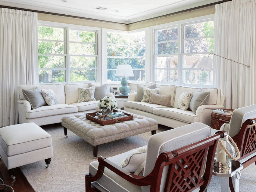 heritage home reid hamptons inspired classic style living room