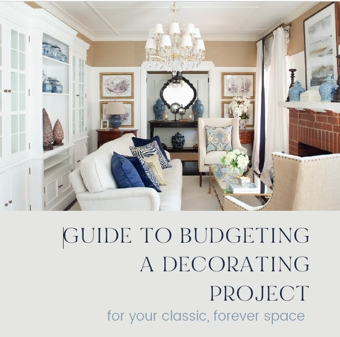 guide to budgeting a decorating project chart workbook journey home interiors