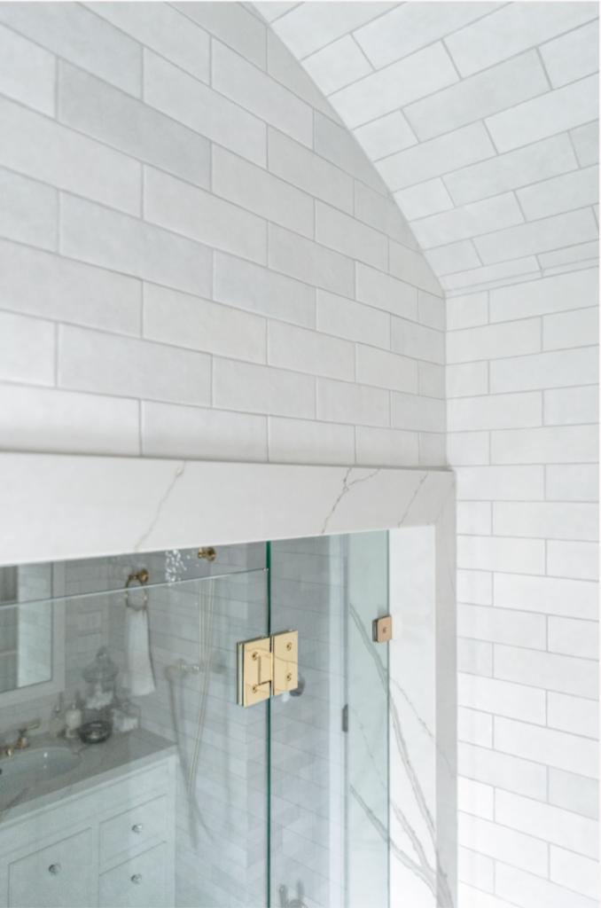 journey-home-canberra-au-bathroom-renovation-gold-shower-door-hinge-detail-hand-painted-tiles