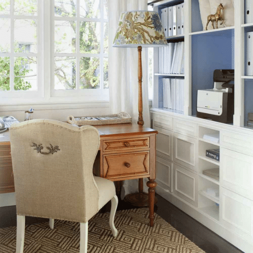 journey-home-interiors-forrest-au-choose-your-own-adventure-decorating-service-upholstered-off-white-chair-at-desk-natural-color-desk